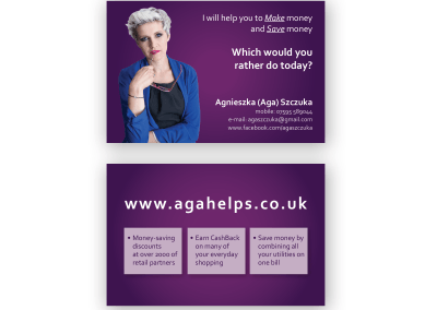 Business Cards, Stationery – Aga Helps