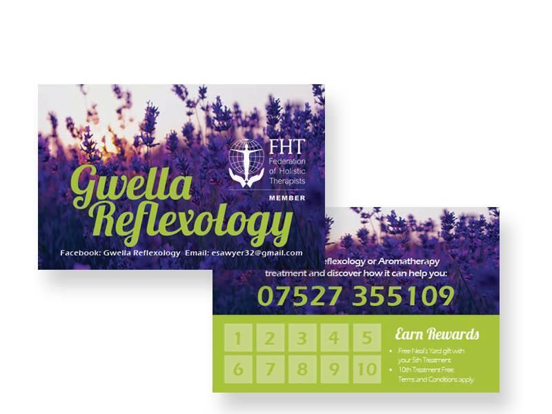 Business Cards – Gwella Reflexology
