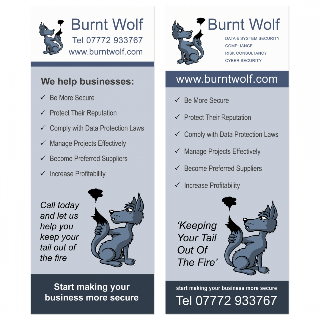 Roller banners – Burnt Wolf