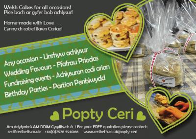 Postcard design – Popty Ceri