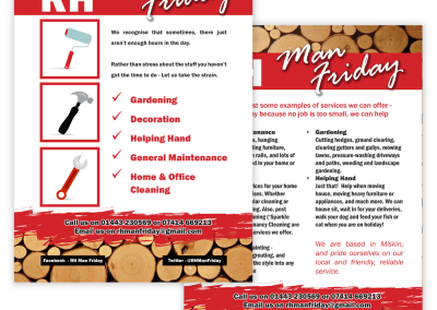 Flyer design – RH Man Friday