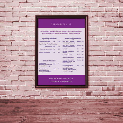 Price List – Soul Reviver